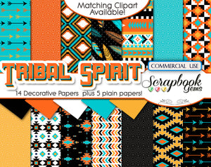 TRIBAL (Kit #3) Digital Papers