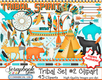 TRIBAL (Kit #3) Clipart and Papers