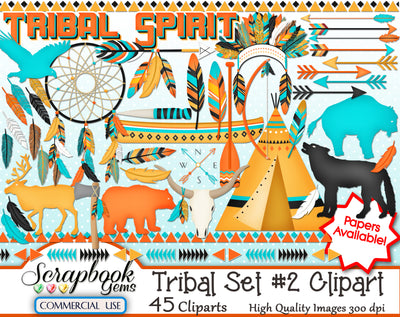 TRIBAL (Kit #3) Clipart