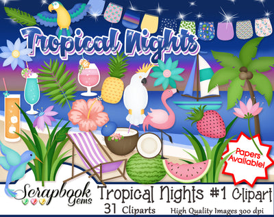 TROPICAL NIGHTS #1 Clipart