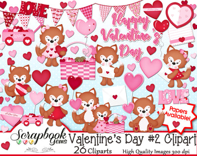 VALENTINE'S DAY, Set #2 Clipart