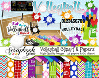 VOLLEYBALL Sports Clipart and Papers