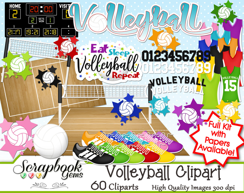 VOLLEYBALL Sports Clipart