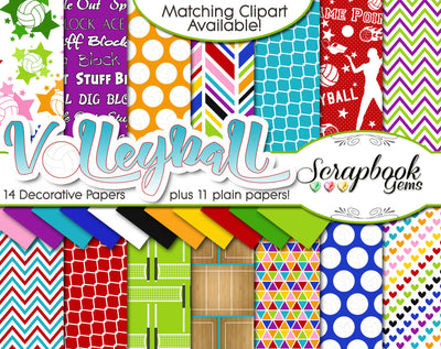 VOLLEYBALL Sports Digital Papers