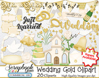 WEDDING GOLD Clipart