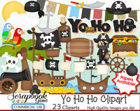 YO HO HO Clipart & Papers