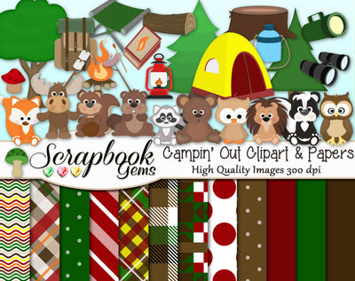 CAMPIN' OUT! Clipart & Papers