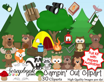CAMPIN' OUT! Clipart