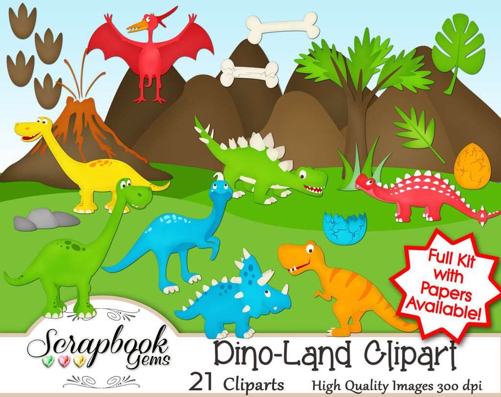 DINO-LAND Clipart