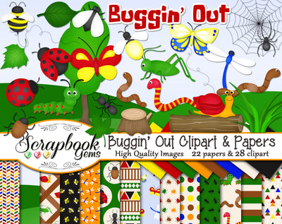BUGGIN' OUT Clipart & Papers