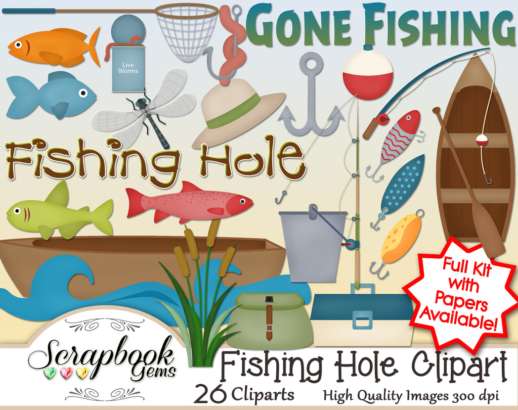 FISHING HOLE Clipart