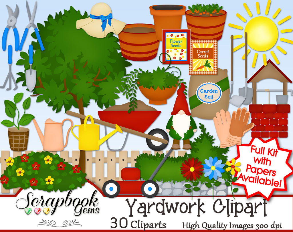 YARD WORK Clipart