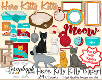 HERE KITTY KITTY Clipart