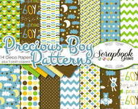 PRECIOUS BOY Digital Papers