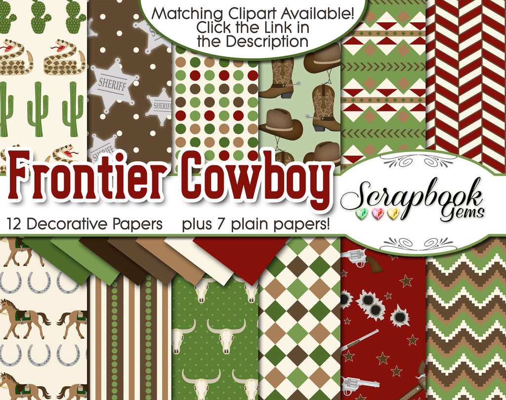 FRONTIER COWBOY Digital Papers
