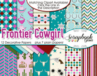 FRONTIER COWGIRL Digital Papers