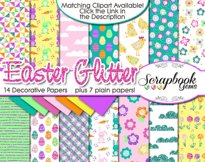 EASTER GLITTER Digital Papers