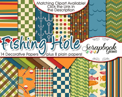 FISHING HOLE Digital Papers