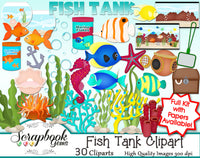FISH TANK Clipart & Papers