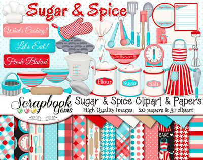 SUGAR & SPICE Clipart and Papers