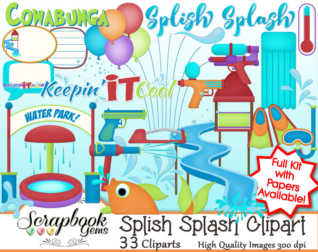 SPLISH SPLASH Clipart