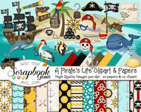 A PIRATE'S LIFE Clipart & Papers