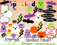 SPOOKED Halloween Clipart