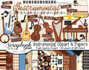 INSTRUMENTAL Clipart and Papers