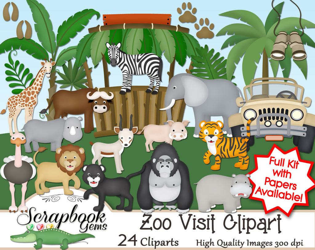 ZOO VISIT! Clipart