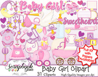 BABY GIRL Infant Clipart
