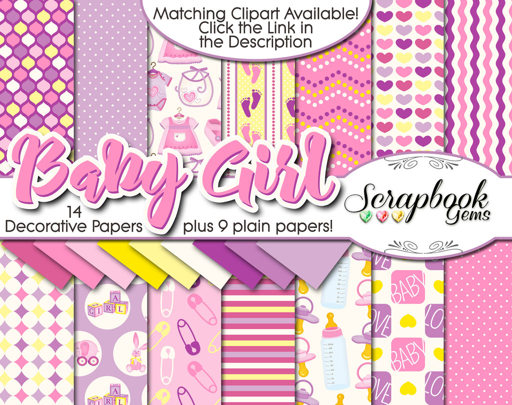 86a29cfe3 BABY GIRL Digital Papers