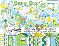 BABY BOY Clipart and Papers