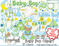 BABY BOY Infant Clipart