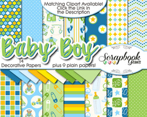 BABY BOY Digital Papers