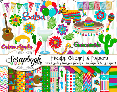 FIESTA! Clipart & Papers