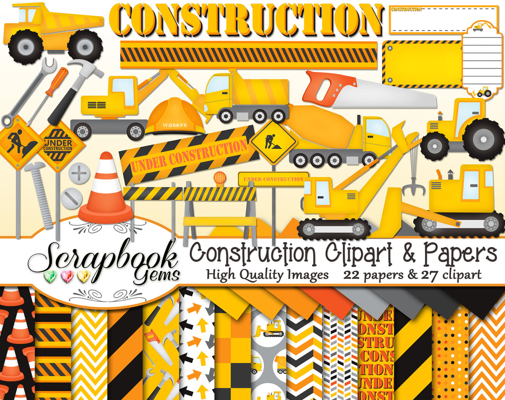 CONSTRUCTION Clipart and Papers