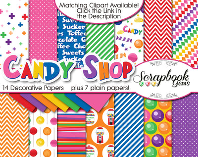 CANDY SHOP Digital Papers