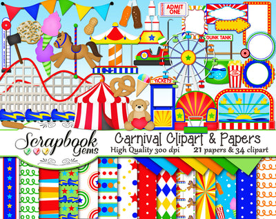 CARNIVAL Clipart & Papers