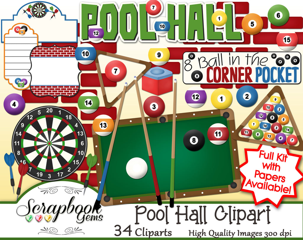 POOL HALL Clipart