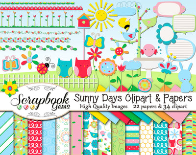SUNNY DAYS Clipart & Papers