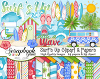 SURF'S UP Clipart and Papers