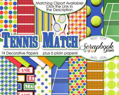 TENNIS MATCH Digital Papers