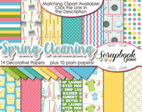 SPRING CLEANING Digital Papers