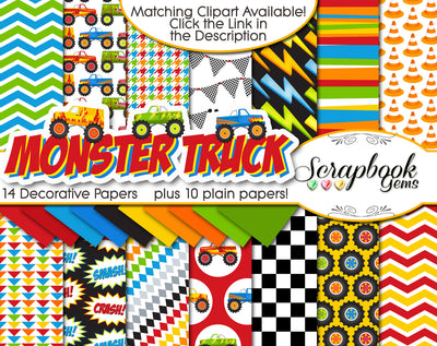 MONSTER TRUCK Digital Papers