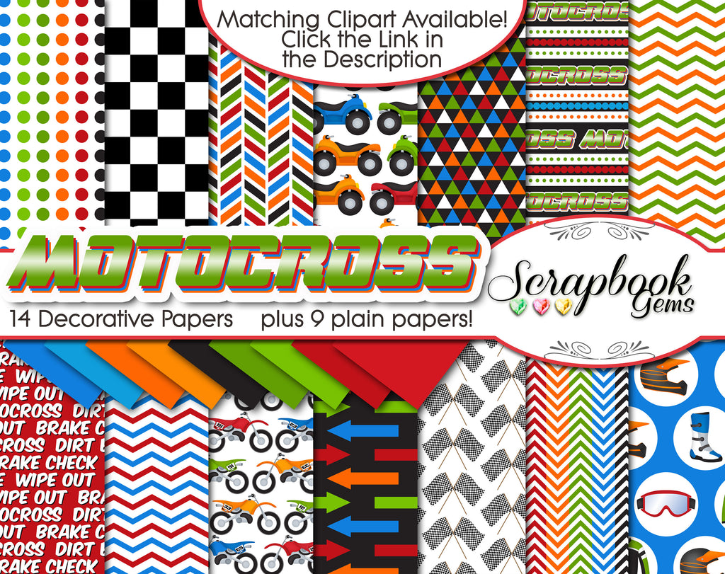 MOTOCROSS Digital Papers