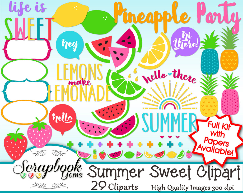 SUMMER SWEET Clipart