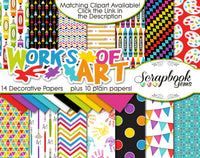 WORKS OF ART Digital Papers