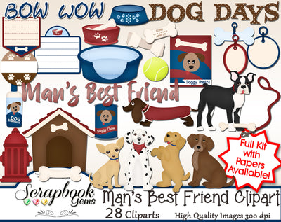 MAN'S BEST FRIEND Dogs Clipart