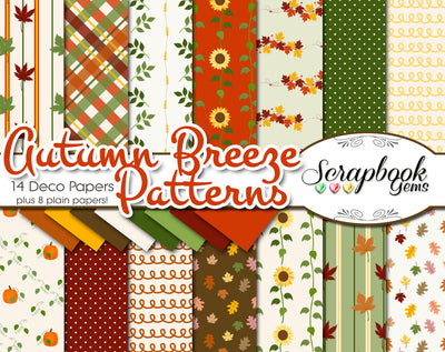 AUTUMN BREEZE Digital Papers