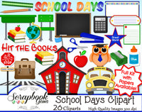 SCHOOL DAYS Clipart